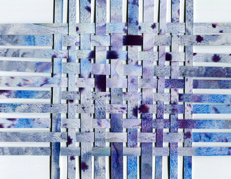 paper weaving collage