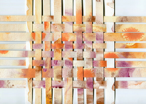 Abstract collage background