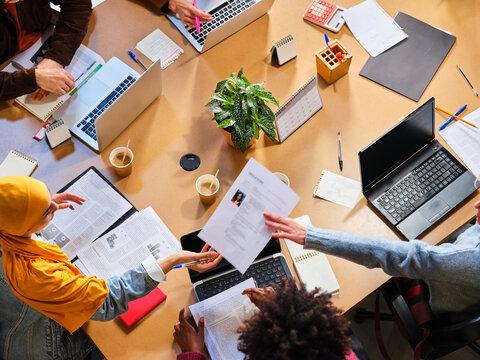 Company executives having business meeting