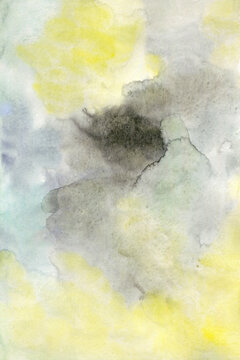 Watercolor yellow and grey background
