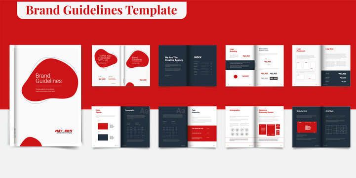 Brand Guideline Template Brand Style Guide Book Brochure Layout Brand Book Brand Manual Brand Guideline Template Brand Identity