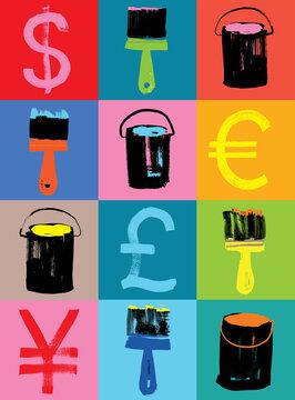 Creative Money Making Concept