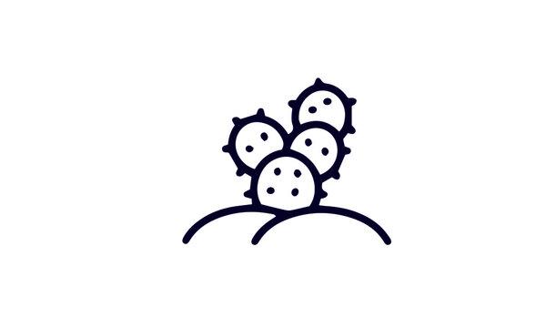 Cactus icon set vector design