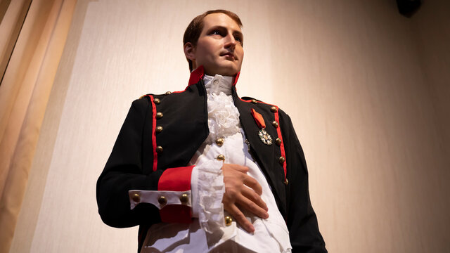 """ANTALYA, TURKEY - JUNE 12 2021: Napoleon Bonaparte, French military and political leader, at Wax Museum """"Face 2 Face"""""""