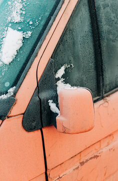 Frozen Car During Winter