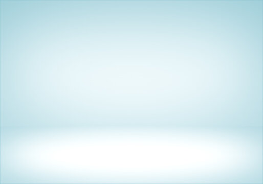Abstract light blue white gradient studio room background.displays for present product.