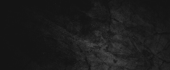 Obraz Black wall slate texture rough concrete floor is aged in a retro concept, Texture of a grungy black concrete wall as background - fototapety do salonu