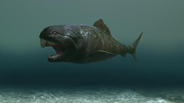 3d illustration of a dunkleosteus fish
