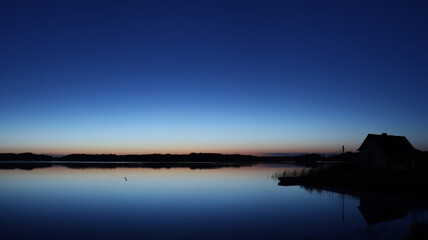 Fototapeta Wschód Słońca nad stawem obraz