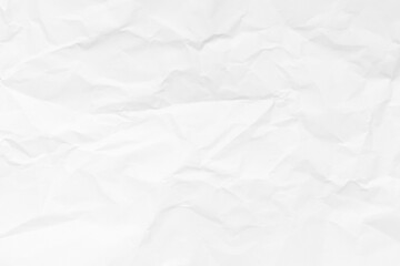 Obraz Grunge wrinkled white color paper textured background - fototapety do salonu