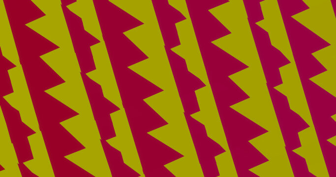 Render with abstract yellow-pink background of torn stripes