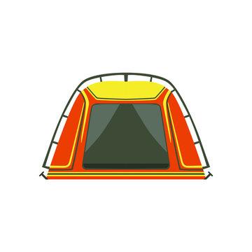 camping tent yellow illustration