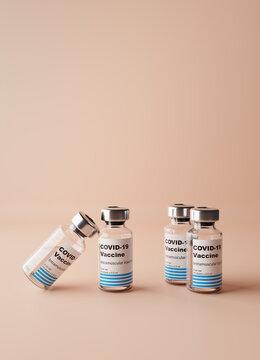 Coronavirus vaccine vials