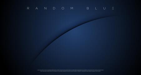 Obraz Minimal abstract navy blue cut wallpaper vector EPS - fototapety do salonu