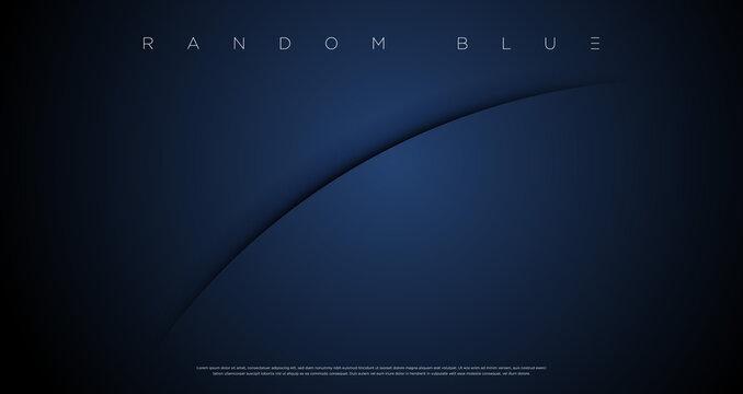 Minimal abstract navy blue cut wallpaper vector EPS