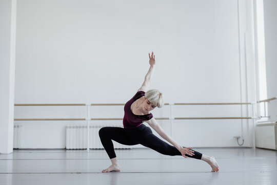 Dance motion of artistic woman