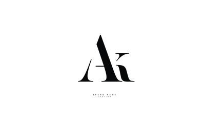 Obraz Alphabet letters Initials Monogram logo AK, KA, A and K - fototapety do salonu