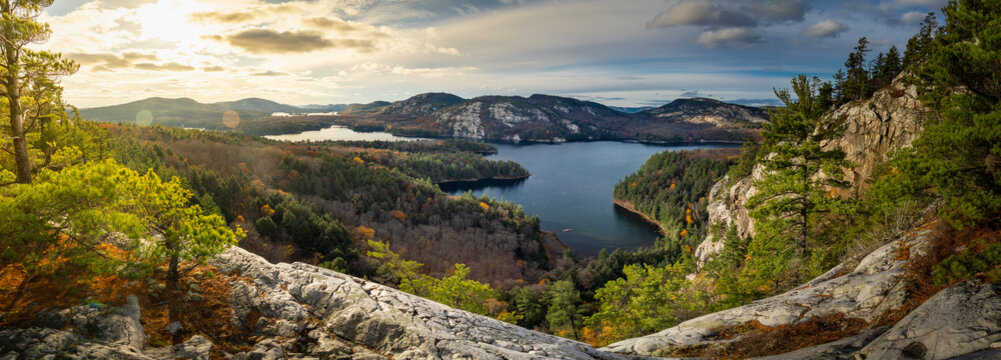 Panorama View from Cliff Edge at Mountain Outlook