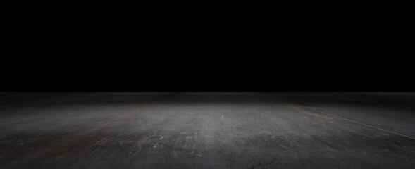 Dark Ground Floor Concrete Background Empty Scene for Presentation and Placement