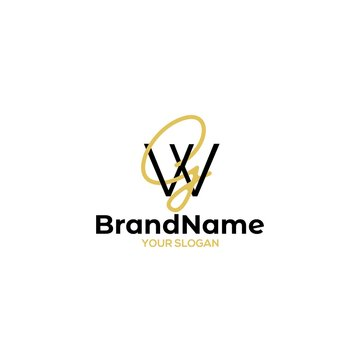 Simple GW Logo Design Vector