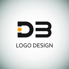 Obraz Letter d and b for logo company design - fototapety do salonu