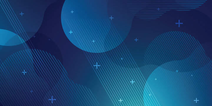 Blue background in vector illustration with glow and lights.