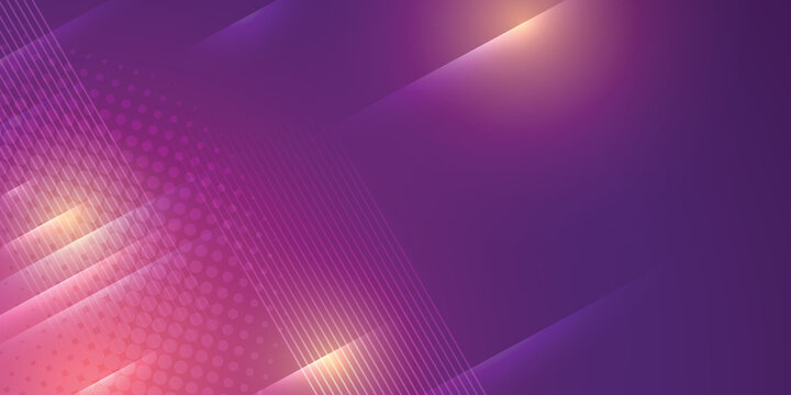 Purple background in vector illustration with glow and lights.