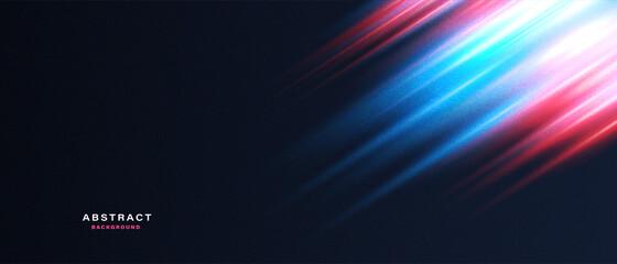 Fototapeta Abstract technology background with motion neon light effect.Vector illustration.  obraz