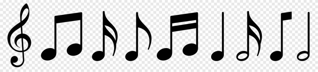 Fototapeta Music notes icon set, Music notes symbol, vector illustration obraz