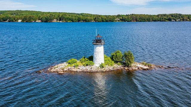 Maine-Winthrop-Lake Cobbosseecontee-Ladies Delight Lighthouse