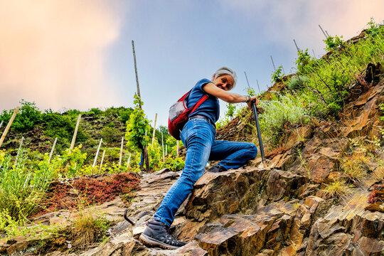Klettersteig im Weinberg
