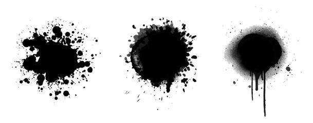 Obraz brush ink splash vector collection - fototapety do salonu
