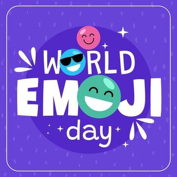Flat World Emoji Day Illustration_3