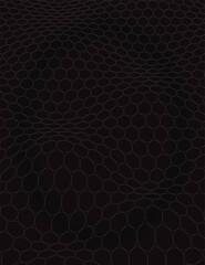 Obraz black and white dynamic circle wave, optical illusion wave, vector illustration - fototapety do salonu