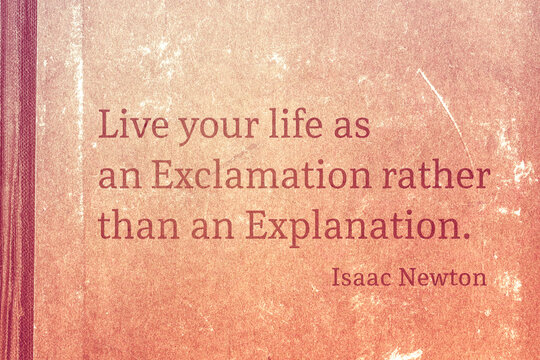 as an Exclamation Newton