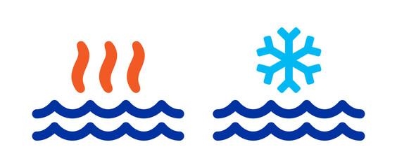 Fototapeta Hot and cold water vector illustration. obraz
