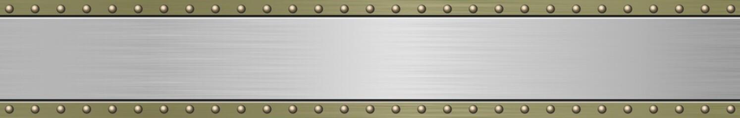 long metal  plaque