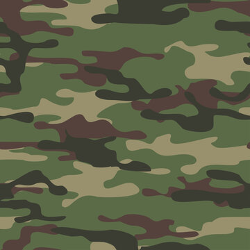 Camouflage seamless pattern from spots. Military texture. Abstract camo. Print on fabric and clothing. Vector