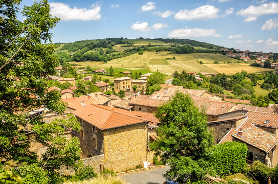 """The village of Bois-d'Oingt, also called """"Beaujolais golden stones"""", belongs to The Most Beautiful Villages of France"""