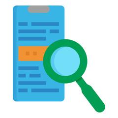 search flat icon - fototapety na wymiar