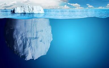 Obraz icicles on a blue sky - fototapety do salonu