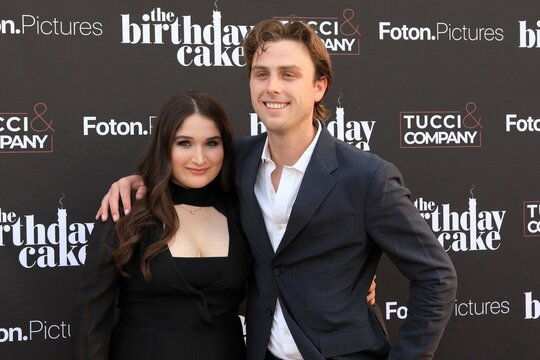 Lily Blavin, Sterling Beaumon at arrivals for THE BIRTHDAY CAKE Premiere