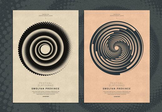 Circle Swirl Shape Design Cover Layout