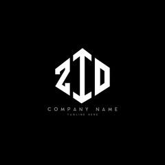 Fototapeta ZIO letter logo design with polygon shape. ZIO polygon logo monogram. ZIO cube logo design. ZIO hexagon vector logo template white and black colors. ZIO monogram, ZIO business and real estate logo.  obraz
