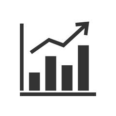Business Graph solid icon - fototapety na wymiar