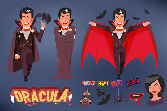 dracular collection - vector illustration