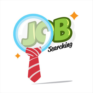 job searching concept - vector