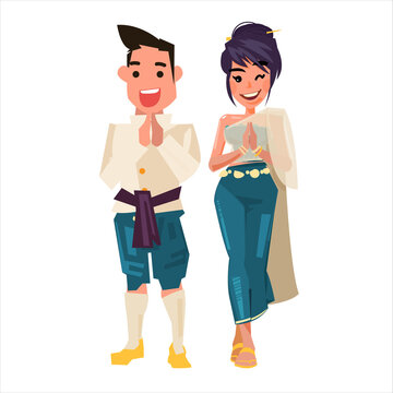 Thai character man and women - vector