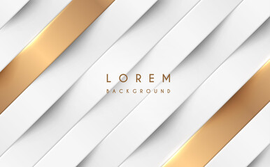 Abstract white and gold lines background