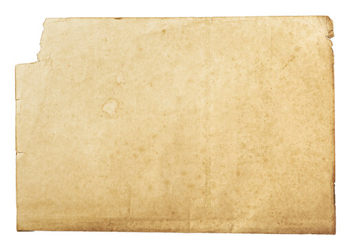 background of empty stained old paper, top view